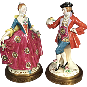Gallant and Damsel Figurine Pair