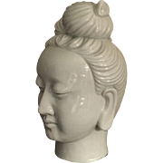 Chinese Guanyin Blanc de Chine Head