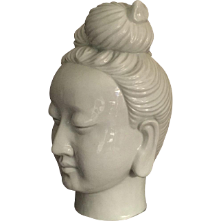 Large Blank de Chine Chinese Guanyin Head