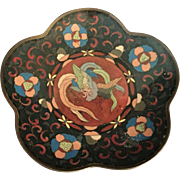 Antique Japanese Cloisonne Phoenix Dish