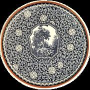 Transferware Porcelain Plate Forest Scene
