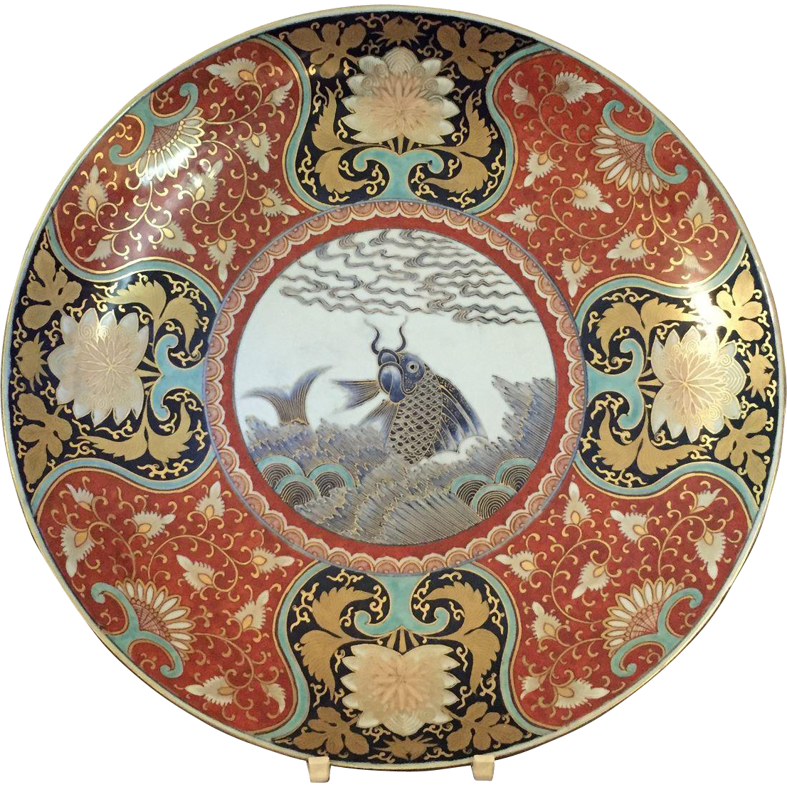 Japanese Imari Pattern Porcelain Charger from