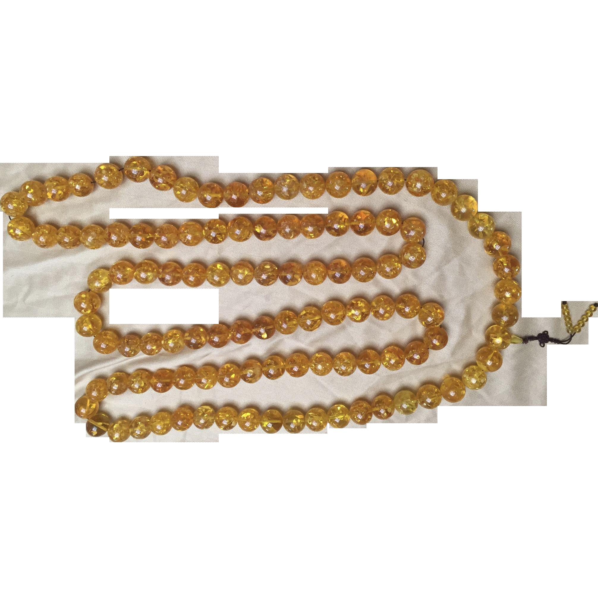 Colossal Prayer Necklace Amber/Like
