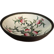 Chinese Pewter Clad Porcelain Bowl