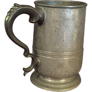 19th Century English Pewter Tankard