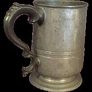 19th Century English Pewter Tankard