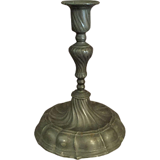 Old English Pewter Candlestick