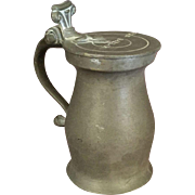 Antique Pewter Flagon signed Ben Ballard