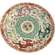 Antique Chinese Dragon Plate