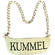 Sterling Bottle Label Kummel