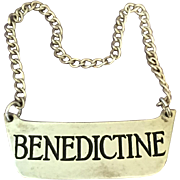 Sterling Bottle Label Benedictine