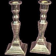 Miniature Plated Candlesticks