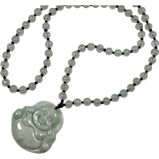 Jade Budai / Buddha and Beaded Necklace