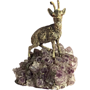 Austrian / Viennese Cold Painted Bronze Goat / Ibex