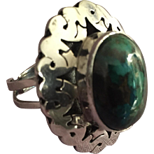 Sterling Malachite Ring from Israel