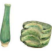 Pair of Chinese Ceramic Objects