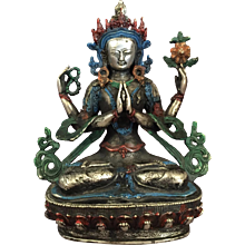 Painted Metal Tara