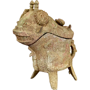 Archaistic Bronze Vessel of a Horned  Creature
