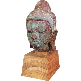Red Lacquer Head on Stand