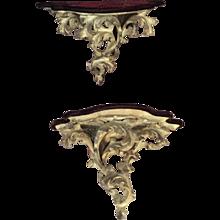 Old Rocco Hand Carved Shelf /Bracket