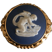 Wedgwood Blue Jasper Pin Brooch