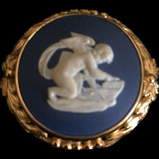 Wedgwood Blue Jasper Pin Brooch