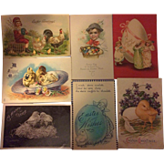 Easter Postcards - Mixed Lot of 7