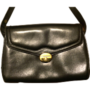 Authentic Gucci Black Leather Handbag - Vintage