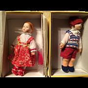 "Kathe Kruse 5"" Dollhouse Dolls - Boy & Girl"