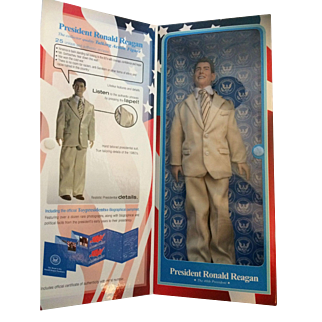 President Ronald Regan Talking Action Figure Doll - In Original Box