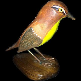 F. Schmelke Carved Bird - Tennessee Warbler