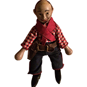 Schoenhut Wood Cowboy Doll Toy