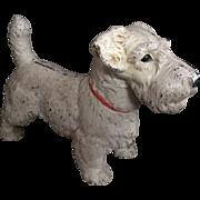 Hubley Doorstop Terrier Dog - Antique Oversized Sealyham Dog Cast Iron
