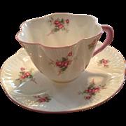 Shelley Bone China Bridal Rose Cup & Saucer