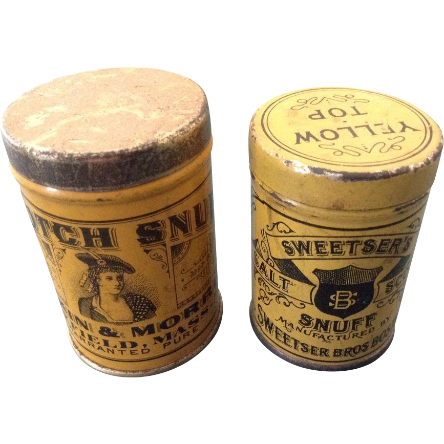 Two Advertising Snuff Tins Sweetser And Scotch Snuff
