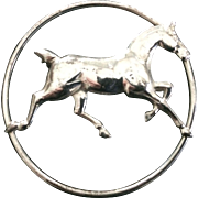 Sterling Silver Horse Pin