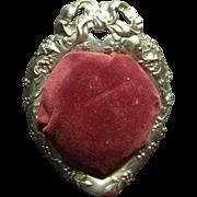 Vintage Reed & Barton Heart Shaped Dish Pincushion