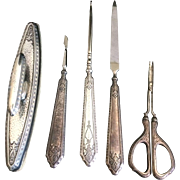 Webster Sterling Silver Vanity Nail Grooming Set - 5 pcs