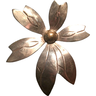 Taxco Mexico Sterling 925 TR-52 Flower Pin