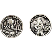 Vintage Apollo 11 First Moon Landing Commemorative Cufflinks