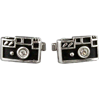 Vintage Swank Single Lens Reflex Camera Cufflinks