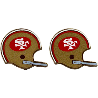 Vintage San Francisco 49ers NFL Football Helmet Cufflinks