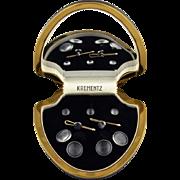 Vintage Krementz Grey Cufflink And 5 Piece Stud Set In Original Box