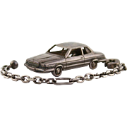 Vintage Tiffany Sterling Silver Mercedes 450 SLC Keychain