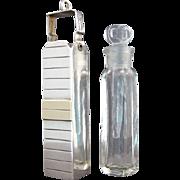 Vintage Sterling Silver Perfume Scent Bottle Pendant