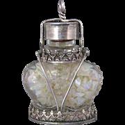 Vintage Floating Opal Chip Crown Shaped Pendant
