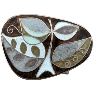 Vintage Perli German Matte Enamel Cloisonne Pin