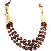 Vintage Boucher Necklace With Topaz Beads