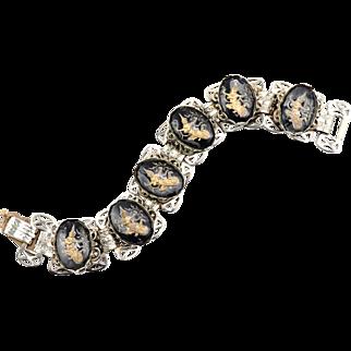 Mid-Century Vintage Siamese Dancer Bookchain Bracelet