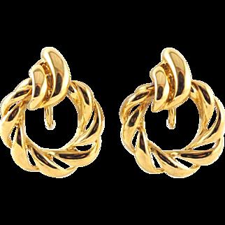 Quality Vintage Hoop Earrings in Gold Plate